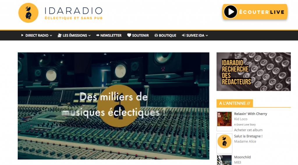 site radio sans pub